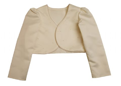 Beaded Bolero Jacket Cream